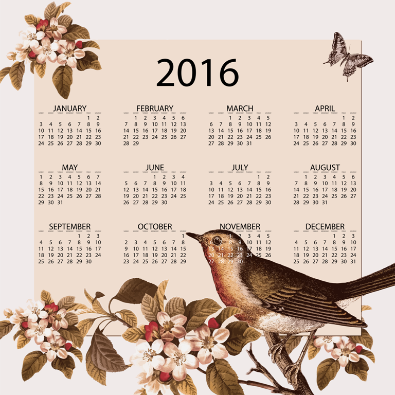 calendra-2016. 64 Breathtaking 2016 Printable Calendar Templates