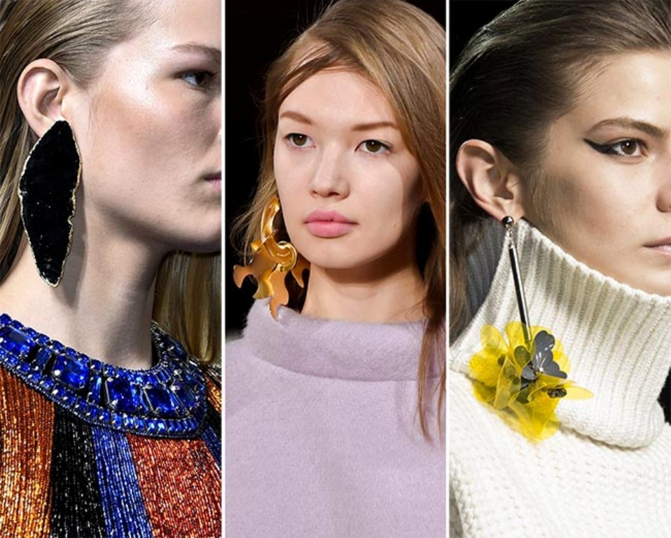 drop-single-hoop-and-statement-earrings-10 65+ Hottest Jewelry Trends for Women in 2020