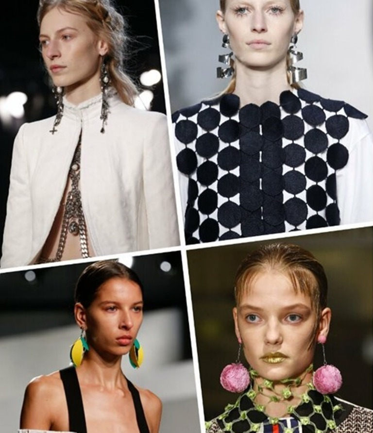 drop-single-hoop-and-statement-earrings-23 65+ Hottest Jewelry Trends for Women in 2020