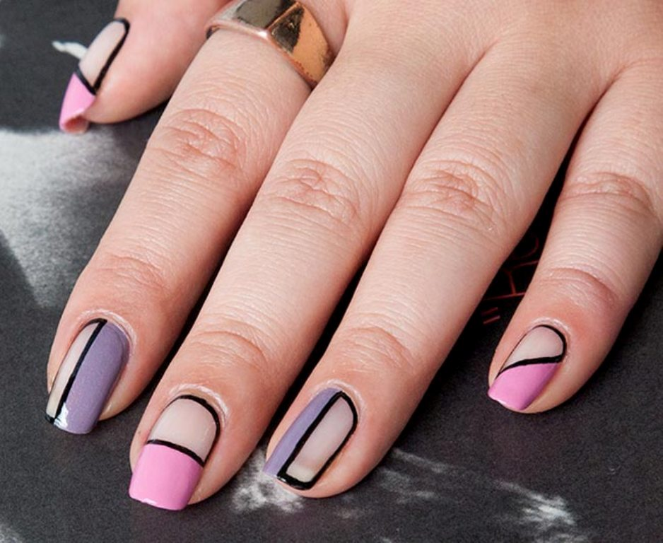 negative-spacce-nails 45+ Hottest & Catchiest Nail Polish Trends in 2021