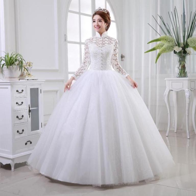 Muslim-wedding-dresses-1 46 Fabulous Wedding Dresses for Muslim Brides 2019