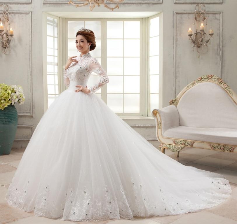 Muslim-wedding-dresses-36 46 Fabulous Wedding Dresses for Muslim Brides 2019