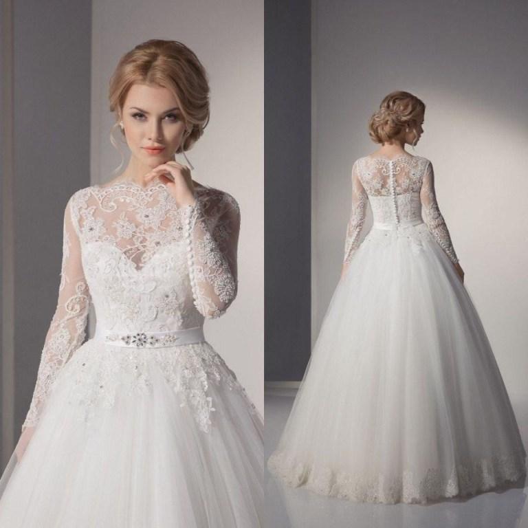 Muslim-wedding-dresses-43 46 Fabulous Wedding Dresses for Muslim Brides 2019