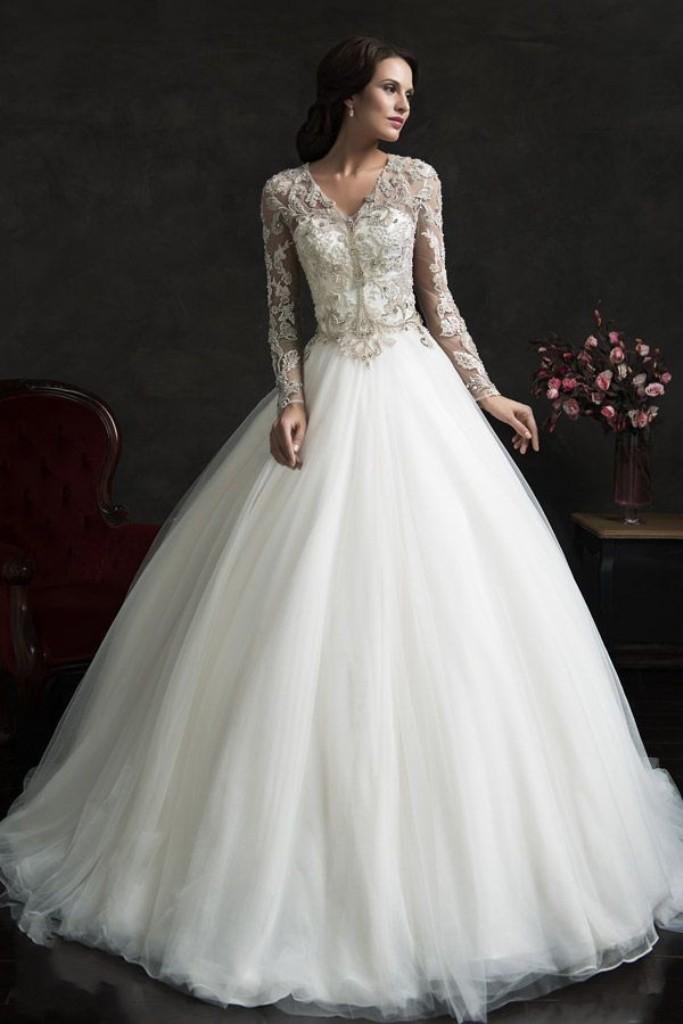 Muslim-wedding-dresses-44 46 Fabulous Wedding Dresses for Muslim Brides 2019