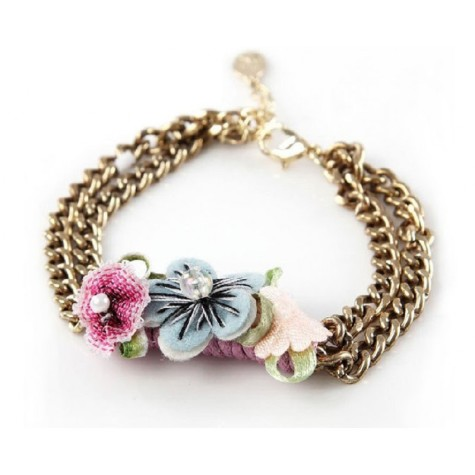 fabric-flower-bracelet_1-475x475 Accessorize Your Swimwear With These 40 Beach Jewelry