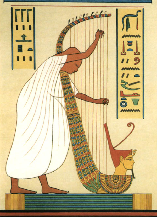 041-Prisse-color-portraiture-A-harper-02-of-the-court-of-Ramesses-III-Dynasty-20 13 Fascinating Facts about Ancient Egypt