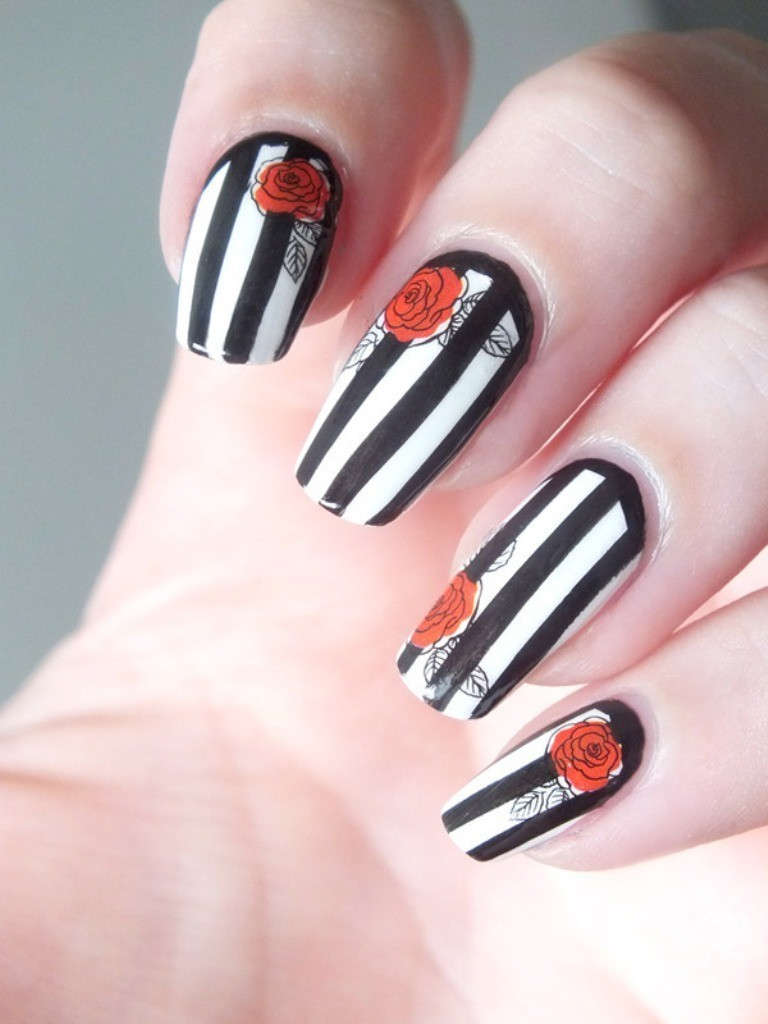valentines-day-nails-10 89 Most Fabulous Valentine's Day Nail Art Designs