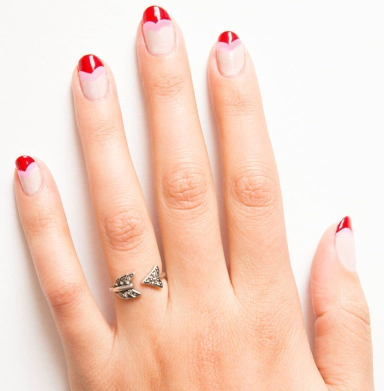 valentines-day-nails-20 89 Most Fabulous Valentine's Day Nail Art Designs