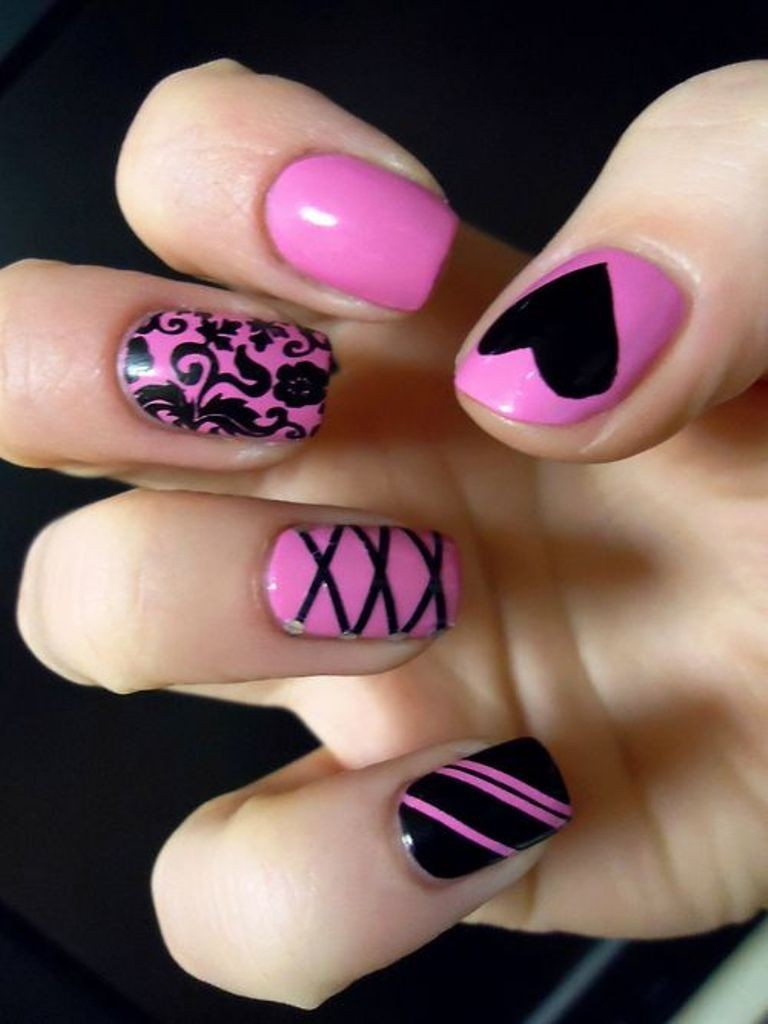 valentines-day-nails-21 89 Most Fabulous Valentine's Day Nail Art Designs