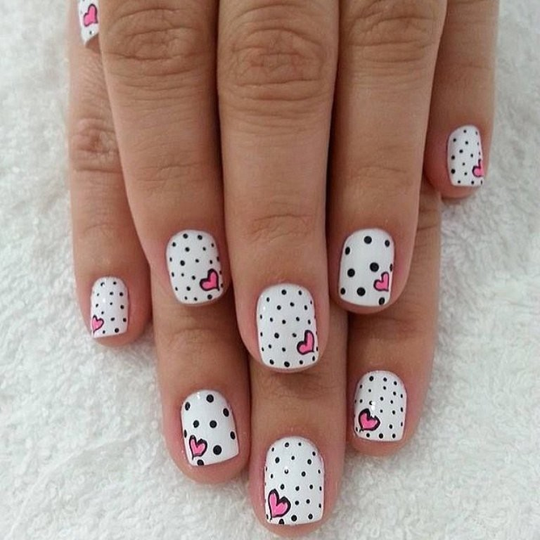 valentines-day-nails-24 89 Most Fabulous Valentine's Day Nail Art Designs