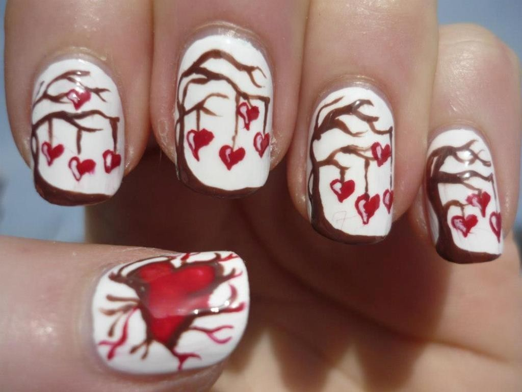 valentines-day-nails-25 89 Most Fabulous Valentine's Day Nail Art Designs