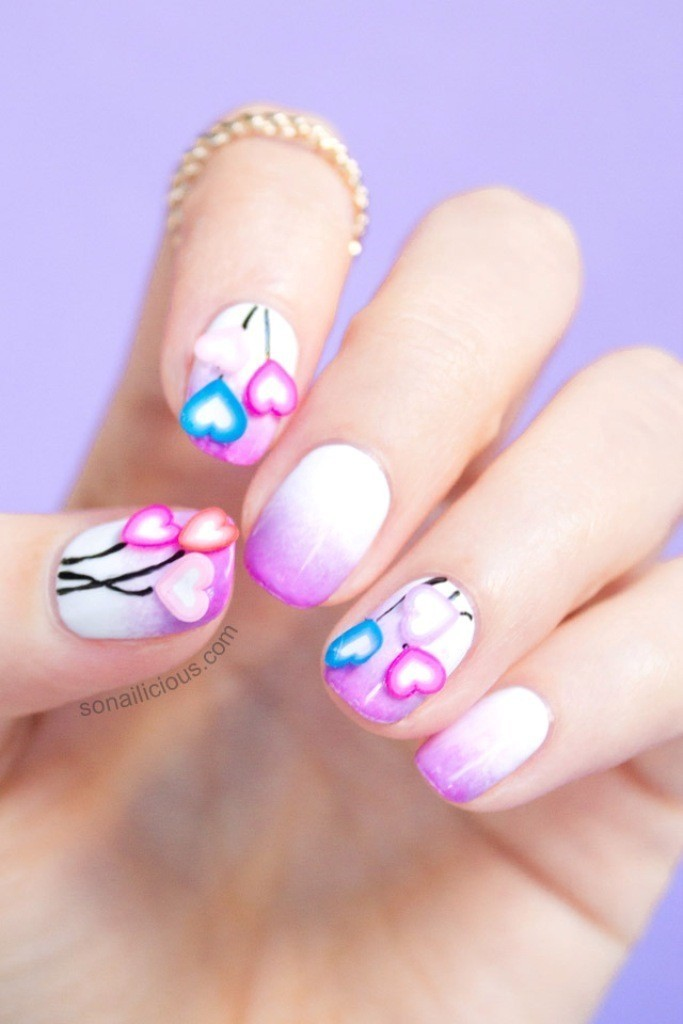 valentines-day-nails-28 89 Most Fabulous Valentine's Day Nail Art Designs