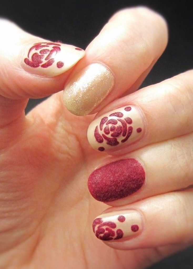 valentines-day-nails-29 89 Most Fabulous Valentine's Day Nail Art Designs