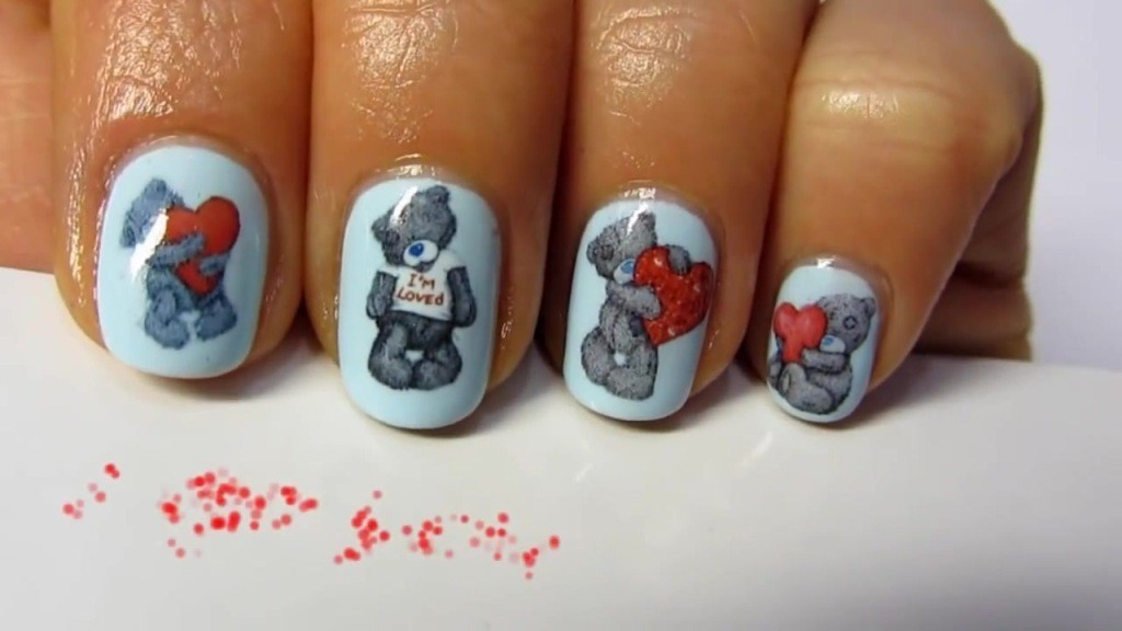 valentines-day-nails-30 89 Most Fabulous Valentine's Day Nail Art Designs