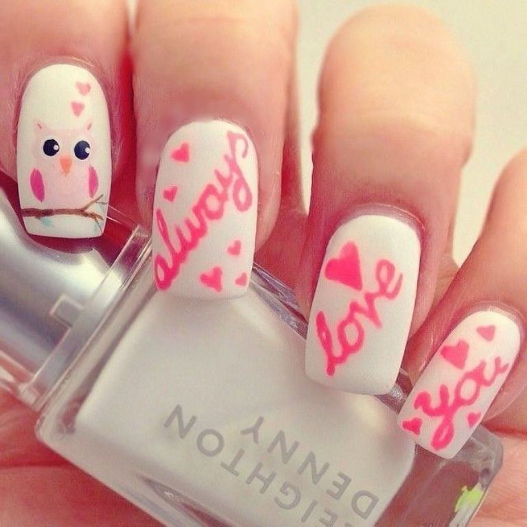 valentines-day-nails-31 89 Most Fabulous Valentine's Day Nail Art Designs