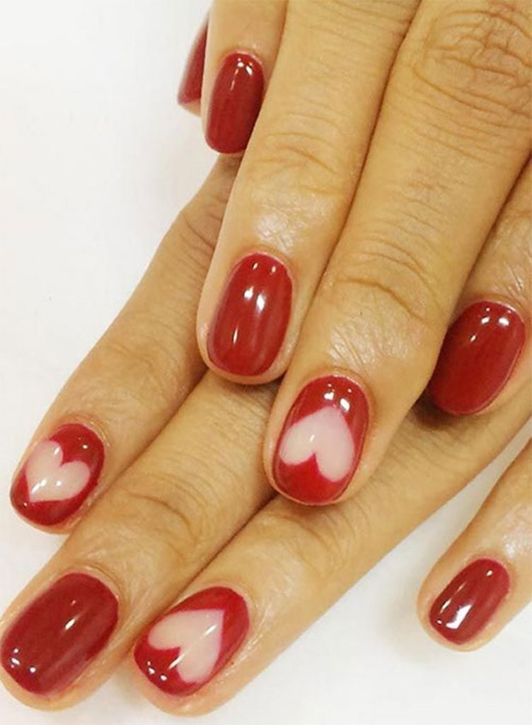 valentines-day-nails-34 89 Most Fabulous Valentine's Day Nail Art Designs