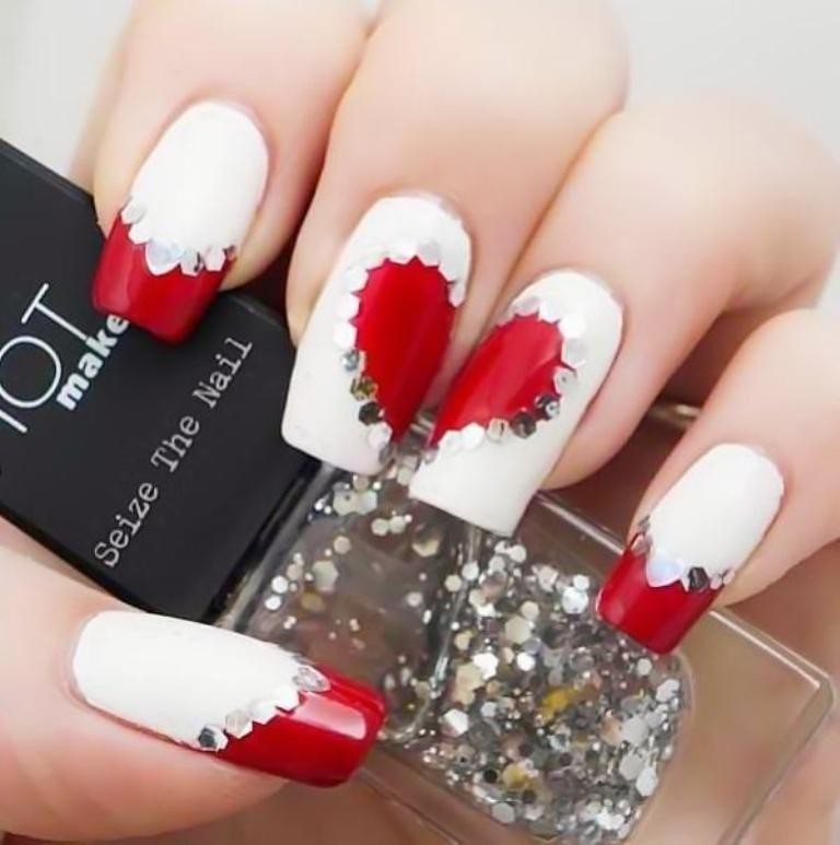 valentines-day-nails-36 89 Most Fabulous Valentine's Day Nail Art Designs