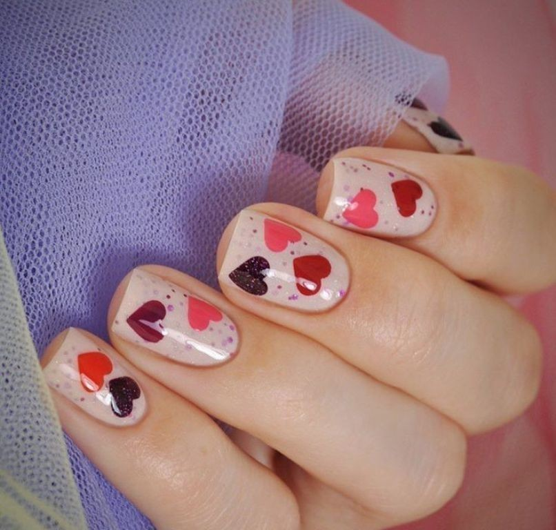 valentines-day-nails-38 89 Most Fabulous Valentine's Day Nail Art Designs