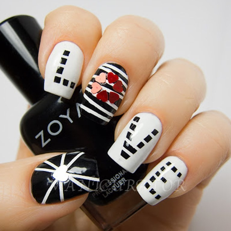 valentines-day-nails-39 89 Most Fabulous Valentine's Day Nail Art Designs