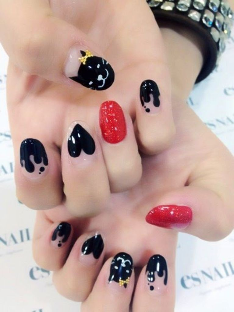 valentines-day-nails-45 89 Most Fabulous Valentine's Day Nail Art Designs
