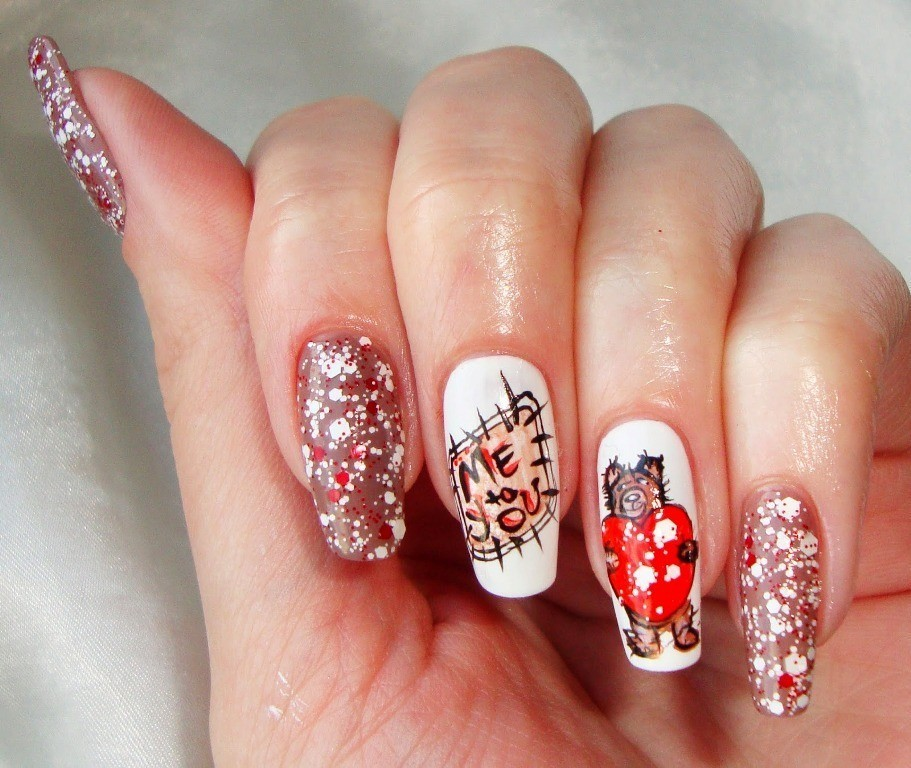 valentines-day-nails-47 89 Most Fabulous Valentine's Day Nail Art Designs