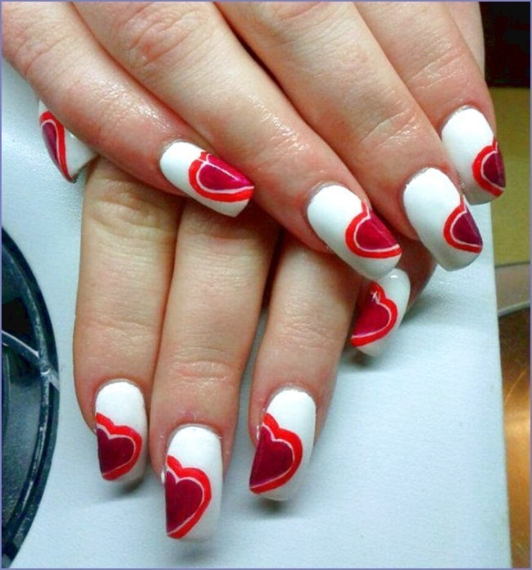 valentines-day-nails-48 89 Most Fabulous Valentine's Day Nail Art Designs