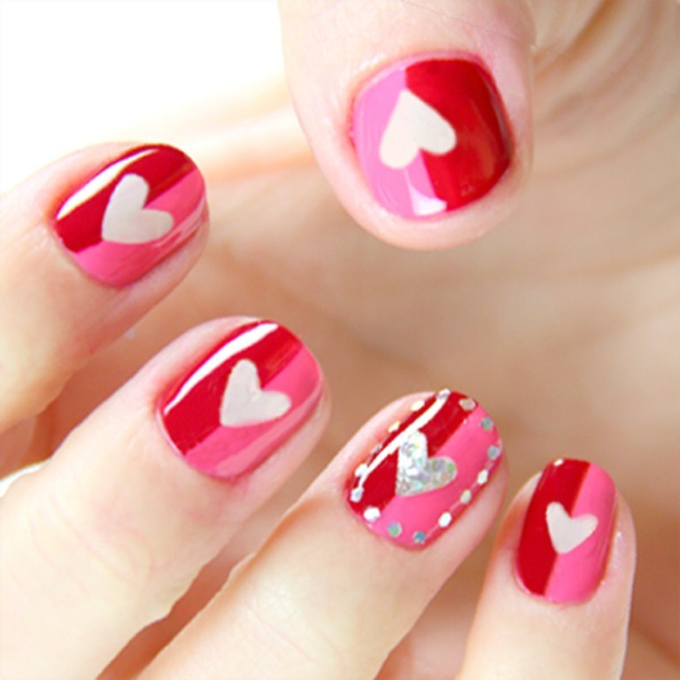valentines-day-nails-49 89 Most Fabulous Valentine's Day Nail Art Designs