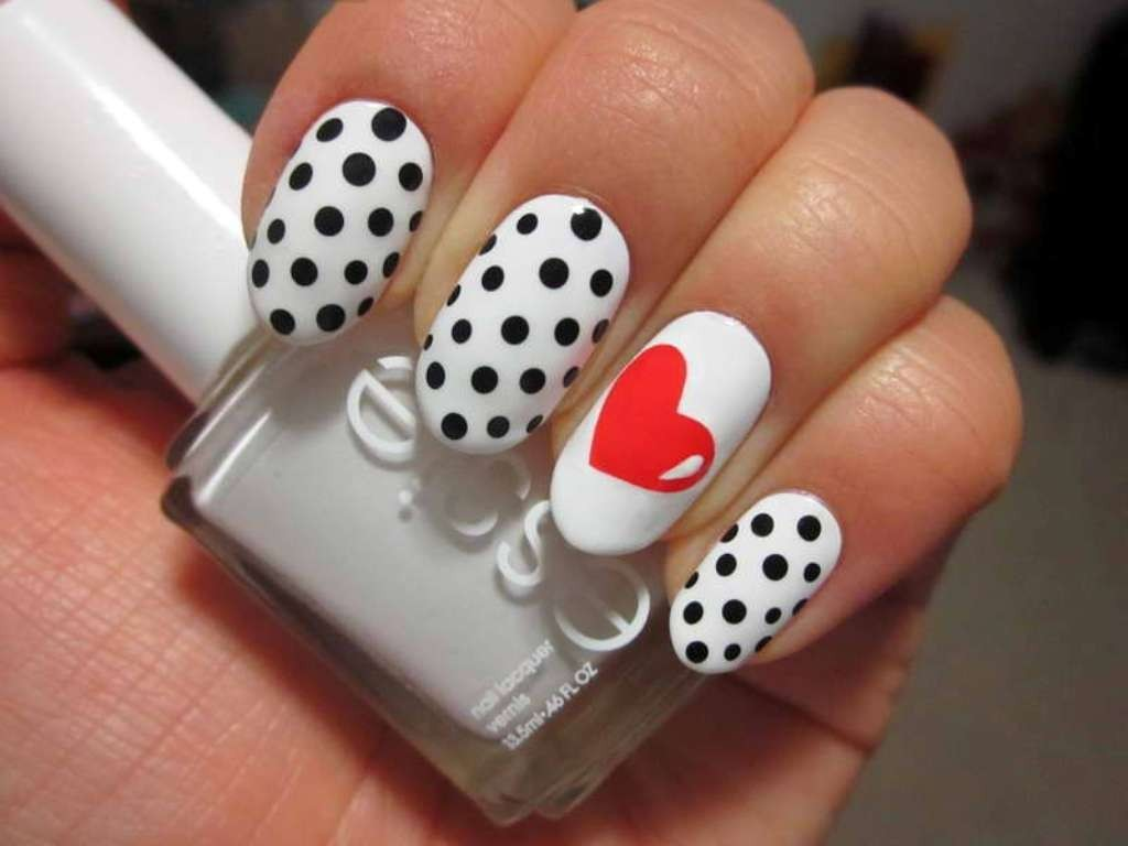 valentines-day-nails-50 89 Most Fabulous Valentine's Day Nail Art Designs