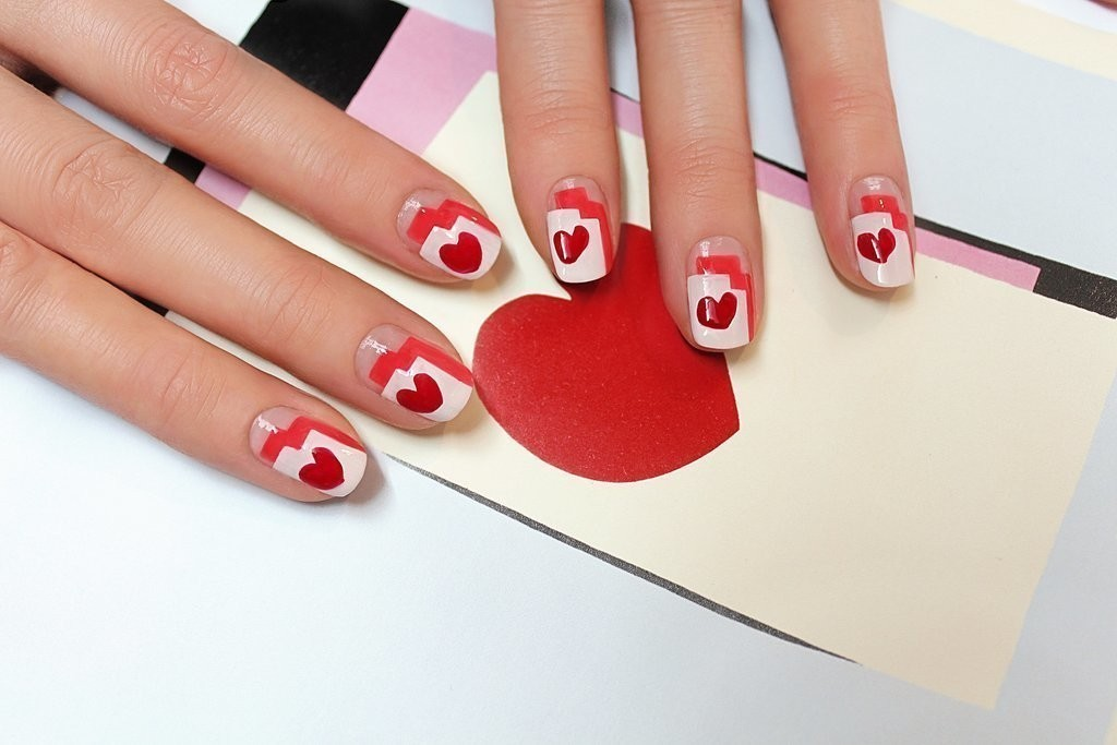 valentines-day-nails-51 89 Most Fabulous Valentine's Day Nail Art Designs