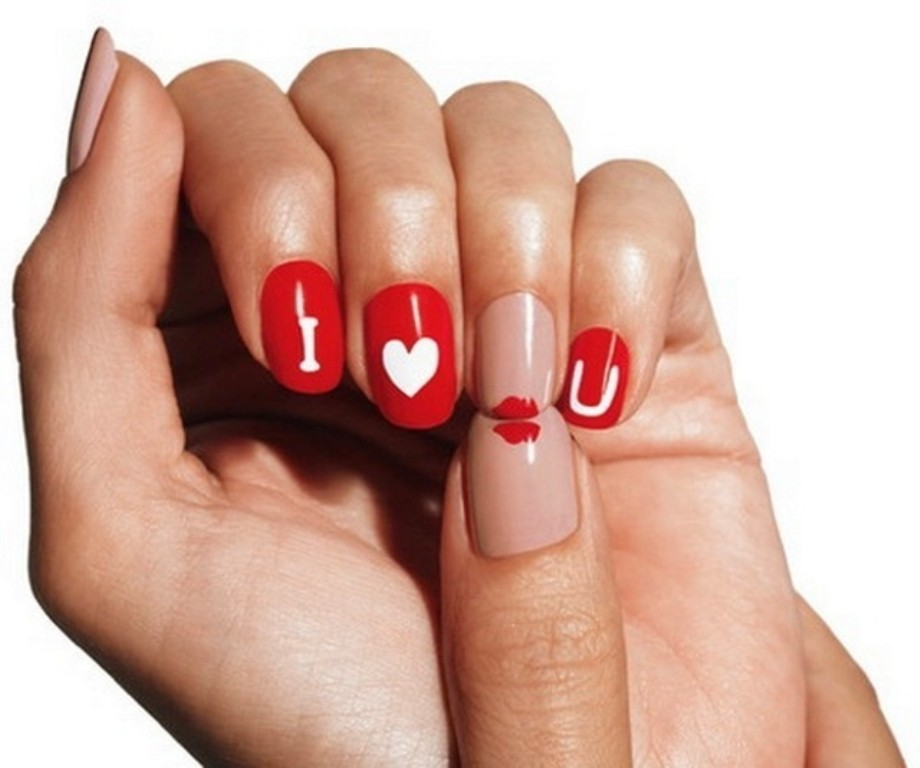 valentines-day-nails-52 89 Most Fabulous Valentine's Day Nail Art Designs