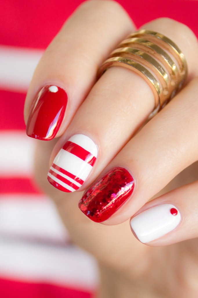 valentines-day-nails-54 89 Most Fabulous Valentine's Day Nail Art Designs