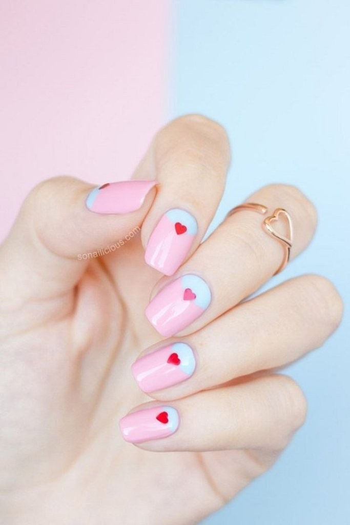 valentines-day-nails-6 89 Most Fabulous Valentine's Day Nail Art Designs