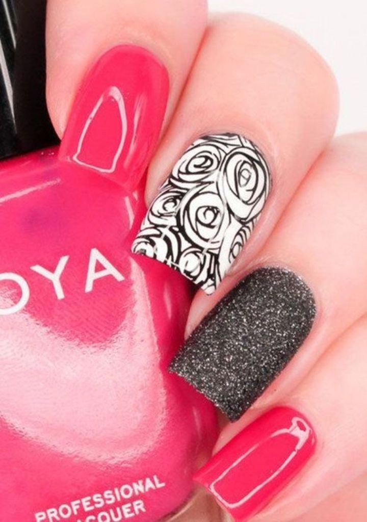 valentines-day-nails-60 89 Most Fabulous Valentine's Day Nail Art Designs
