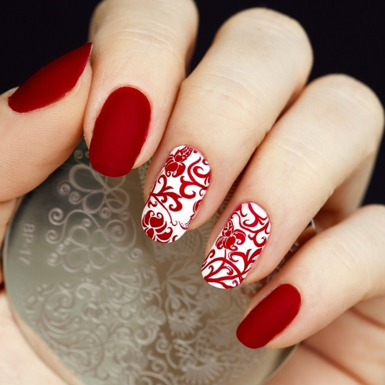 valentines-day-nails-64 89 Most Fabulous Valentine's Day Nail Art Designs