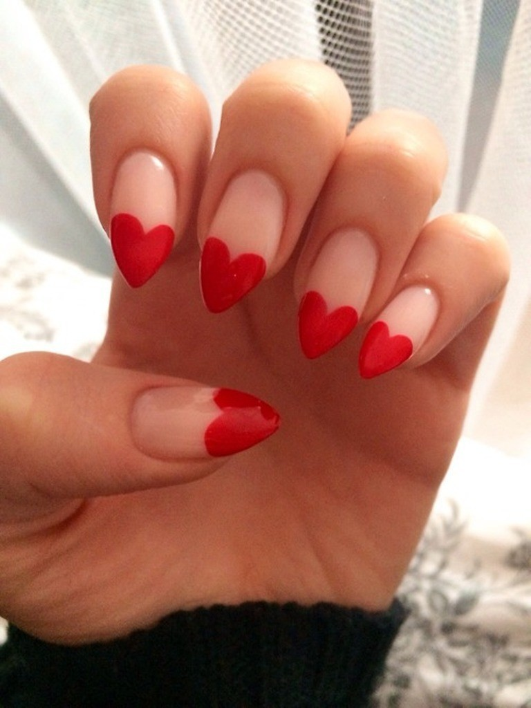 valentines-day-nails-67 89 Most Fabulous Valentine's Day Nail Art Designs