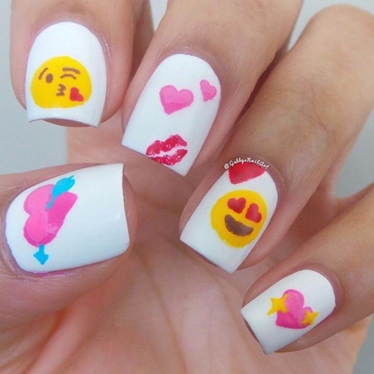 valentines-day-nails-69 89 Most Fabulous Valentine's Day Nail Art Designs