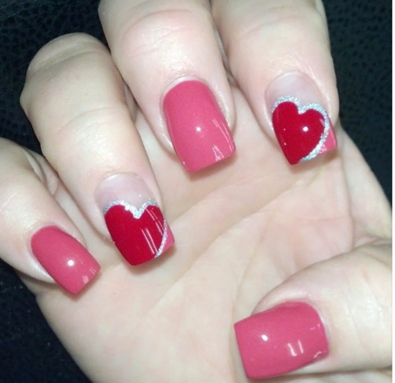 valentines-day-nails-70 89 Most Fabulous Valentine's Day Nail Art Designs