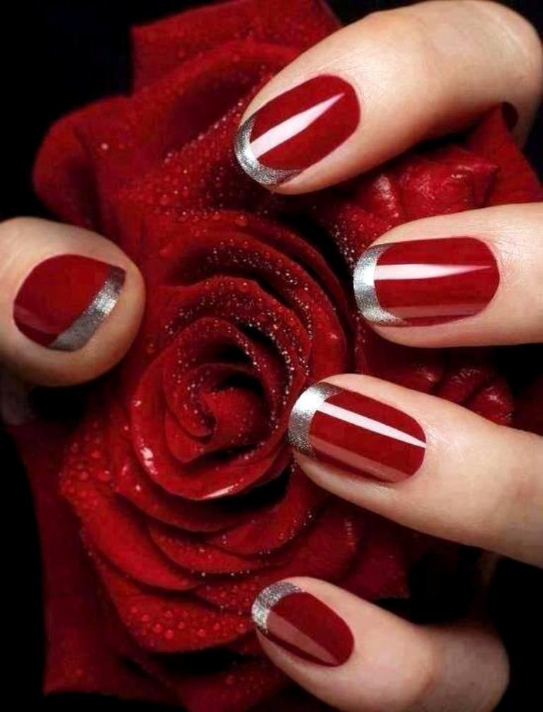 valentines-day-nails-72 89 Most Fabulous Valentine's Day Nail Art Designs