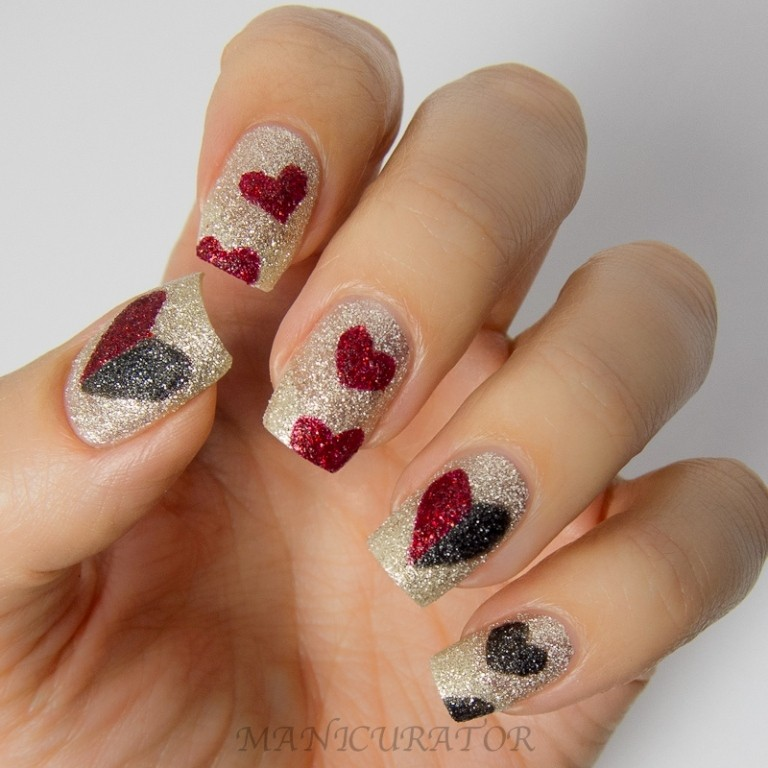 valentines-day-nails-77 89 Most Fabulous Valentine's Day Nail Art Designs