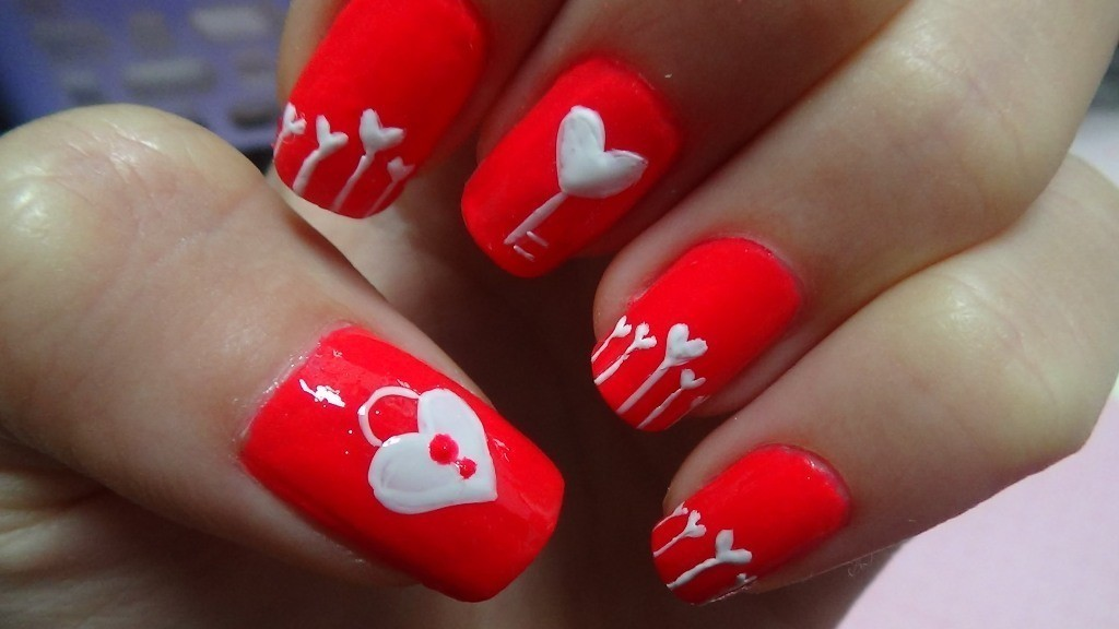 valentines-day-nails-8 89 Most Fabulous Valentine's Day Nail Art Designs