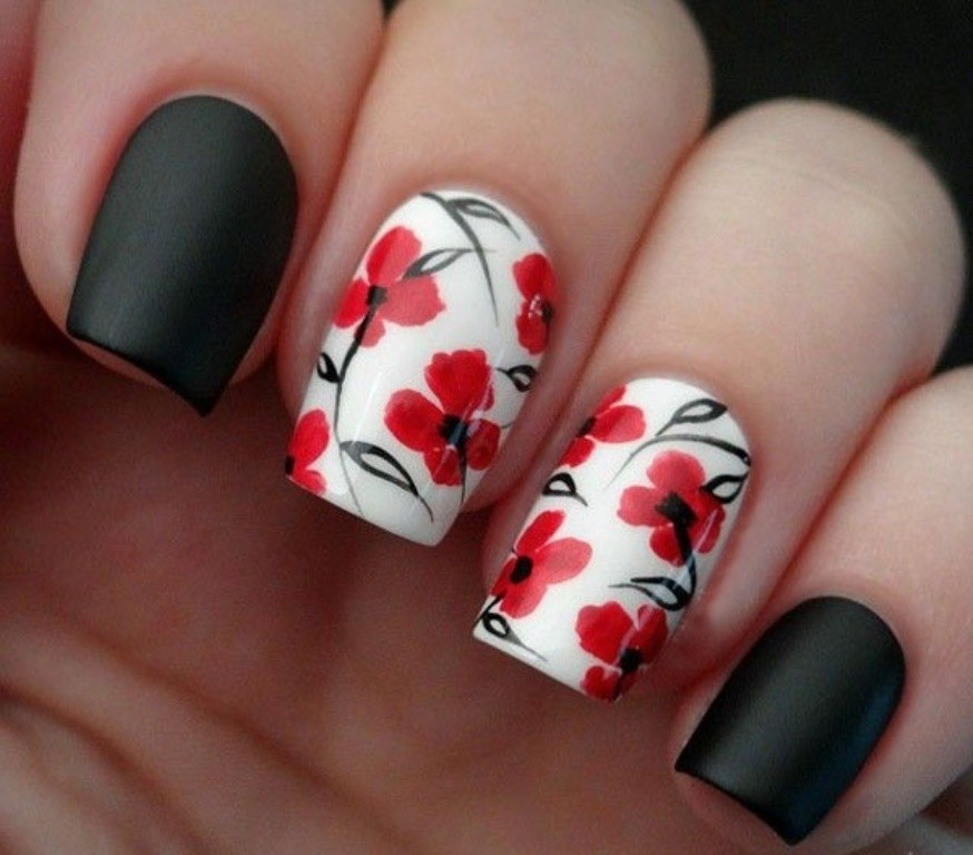 valentines-day-nails-81 89 Most Fabulous Valentine's Day Nail Art Designs