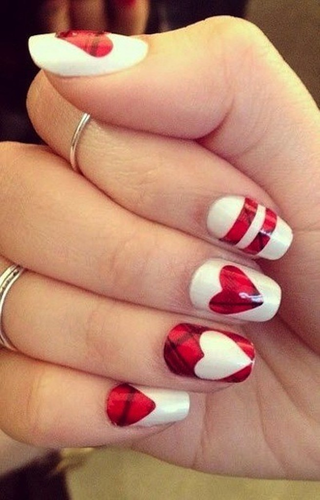 valentines-day-nails-85 89 Most Fabulous Valentine's Day Nail Art Designs