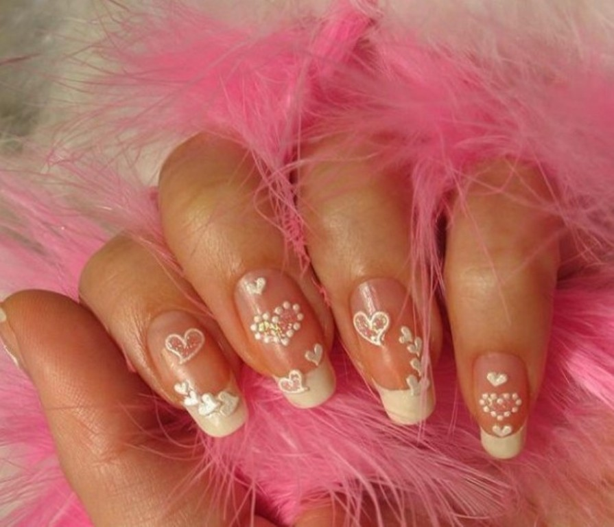 valentines-day-nails-86 89 Most Fabulous Valentine's Day Nail Art Designs