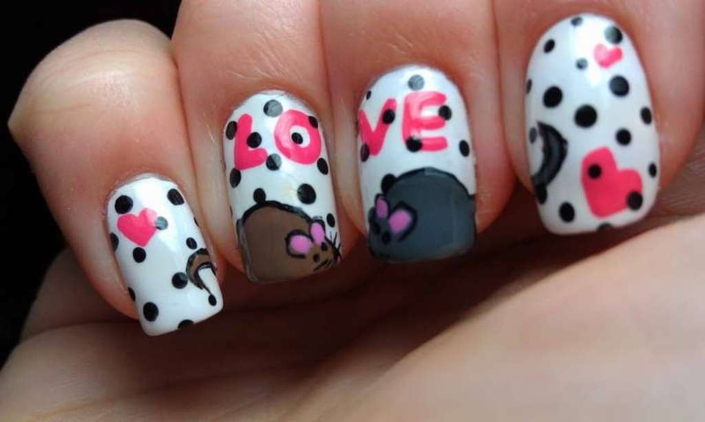 valentines-day-nails-87 89 Most Fabulous Valentine's Day Nail Art Designs