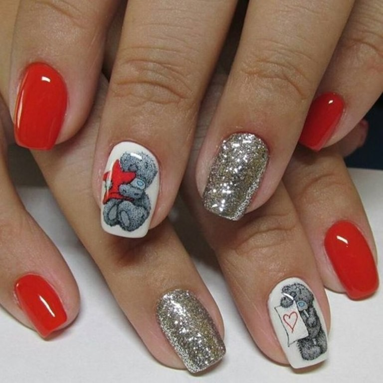 valentines-day-nails-9 89 Most Fabulous Valentine's Day Nail Art Designs