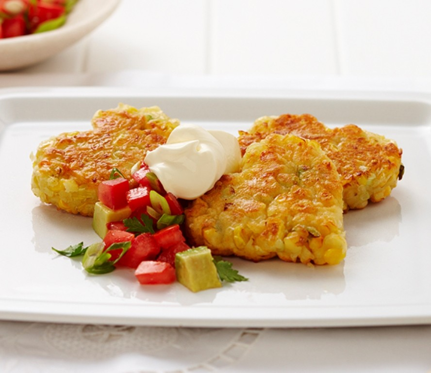 Love-Heart-Corn-Fritters 32 Most Romantic Valentine's Day Meals & Recipe Ideas