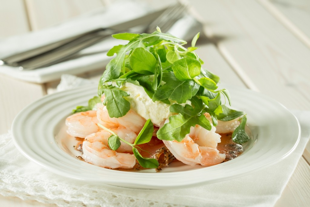 Smoked-salmon-with-prawns-horseradish-cream-and-lime-vinaigrette 32 Most Romantic Valentine's Day Meals & Recipe Ideas