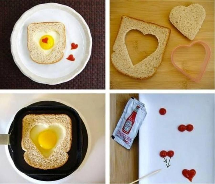 love-heart-shaped-breakfast 32 Most Romantic Valentine's Day Meals & Recipe Ideas