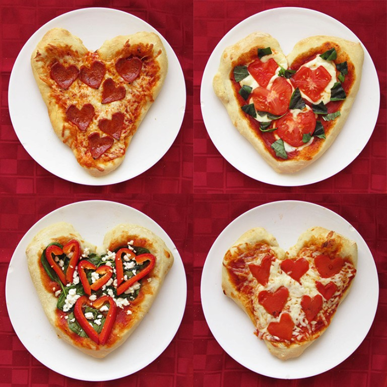 valentines-day-heart-shaped-pizza-2 32 Most Romantic Valentine's Day Meals & Recipe Ideas