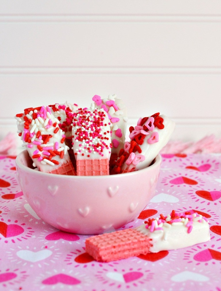 valentines-day-wafer 65 Most Romantic Valentine's Day Chocolate Treat Ideas